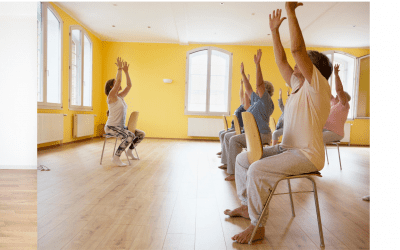 Using a Chair allows Real People to do Real Yoga*