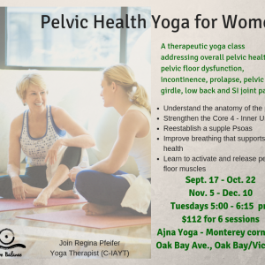 Pelvic Health Yoga Therapy for Women