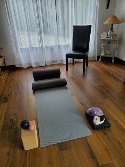 Set-up for a Private Yoga Therapy Session